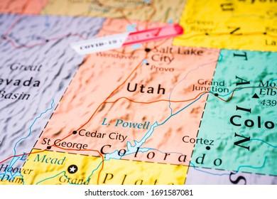 Utah state Covid-19 Quarantine background