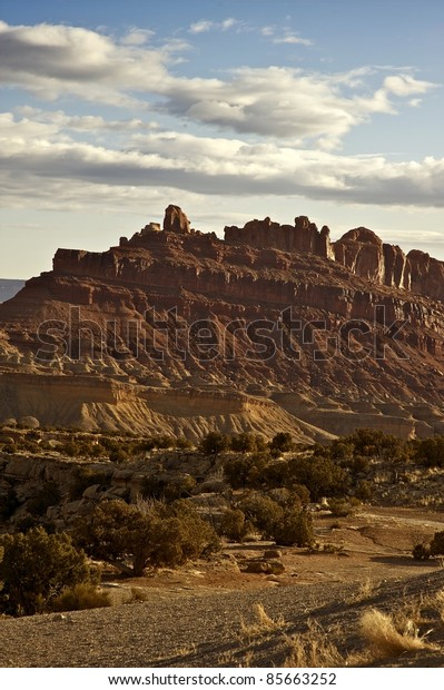 Utah State - Utah Rocky Landscape. Vertical Photo. Nature Photo Collection.