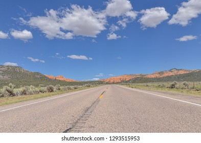 Utah State Route 12 (Scenic Byway 12) entering Red Canyon and Dixie National Forest (Garfield County, Utah)