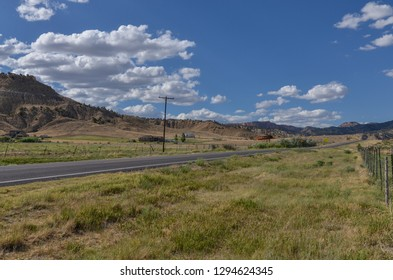 Utah State Route 12 (Scenic Byway 12) passing through Tropic Valley in Garfield County, Utah