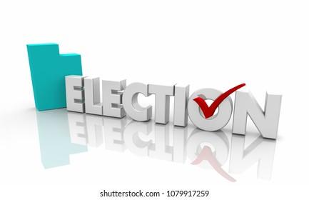 Utah UT Election Voting State Map Word 3d Illustration