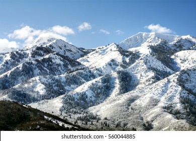 utah wasatch mountains in ogden just north of salt lake city which is popular for skiing snowboarding and other winter sports