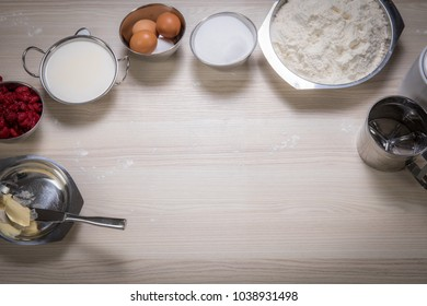 utensiles and ingredients for baking