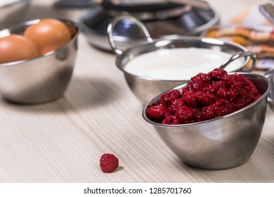 utensils for baking or cooking on a table