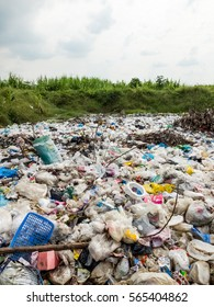 UTHAITANI PROVINCE, THAILAND-NOVEMBER 8 2016, Waste from household in waste landfill. Recyclable waste in dump site