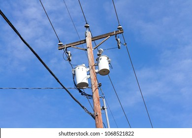 Utility Pole & distribution transformer