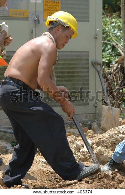 Utility worker for the power or electric company