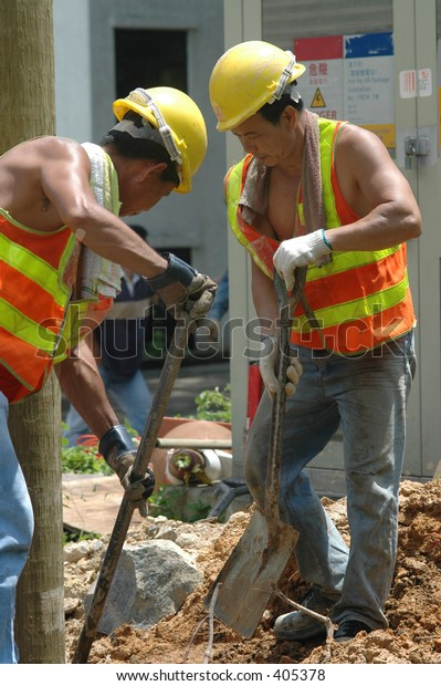 Utility Workers for the power or electric company