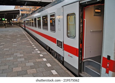 UTRECHT, THE NETHERLANDS, 19 SEPTEMBER 2014 - Dutch train on platform.