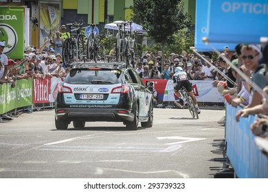 Utrecht, The Netherlands. 4th of July, 2015. Tour de France Time Trial Stage, METTEO TRENTIN, Team Ettix Quick Step