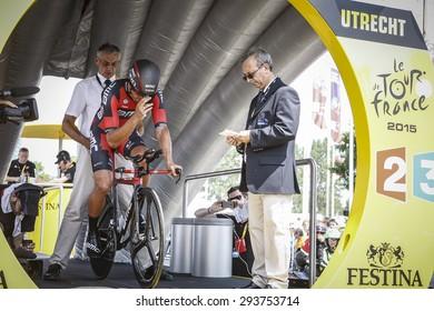 Utrecht, The Netherlands. 4th of July, 2015. Tour de France Time Trial Stage, GREG VAN AVERMAET, Team BMC
