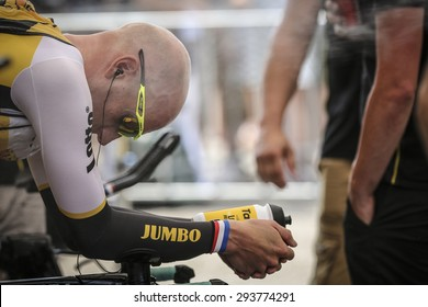 Utrecht, The Netherlands. 4th of July, 2015. Tour de France Time Trial Stage, JOS VAN EMDEN, Team Lotto Jumbo