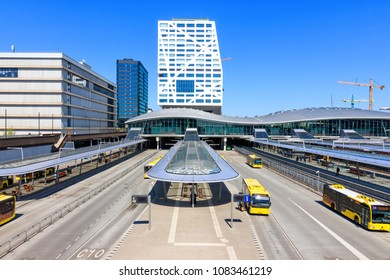 Utrecht, Netherlands - May 04, 2018: View of Utrecht Centraal Railway Station