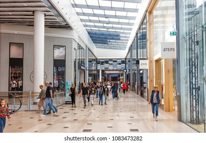 Utrecht, Netherlands - May 04, 2018: Hoog Catharijne Shopping Mall In Utrecht