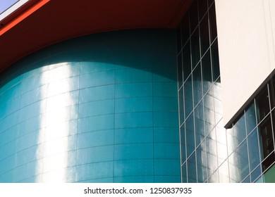 UTRECHT, NETHERLANDS - OCTOBER 20, 2018: modern architecture in Utrecht