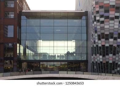 UTRECHT, NETHERLANDS - OCTOBER 20, 2018: futuristic shopping mall Hoog Catharijne