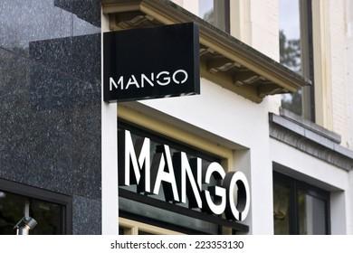 UTRECHT, THE NETHERLANDS, October 5th 2014, Mango Store Logo, Ma
