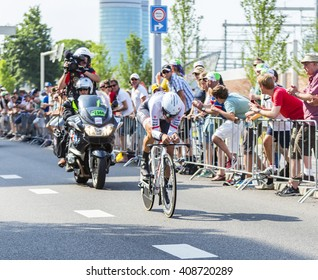 UTRECHT,NETHERLANDS JUL 4:The cyclist Fabian Cancellara of Trek Factory Racing Team riding during the stage 1 (individual time trial) of Le Tour de France 2015 in Utrecht,Netherlands on 04 July 2015