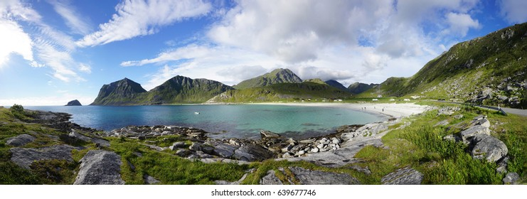 The Uttakleiv beach in the Lofoten islands, Norway
