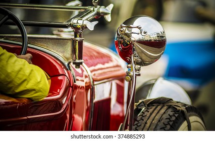 Uttar Pradesh, India - February 7, 2016: This vintage car was on the F1 track at the 21 Gun Salute International Vintage Car Rally 2016 which took place at Buddh International Circuit, Greater Noida.