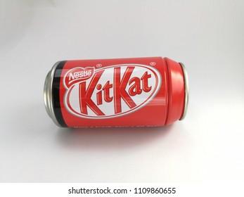 Uttaradit Province, Thailand June, 2018 Kitkat Chocolate Box is avalable at 159 Baht. Uttaradit, Thailand.