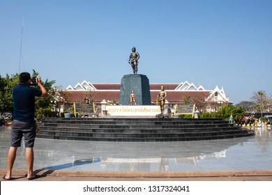 Uttaradit/Thailand-February,18, 2019,Praya Phichai Dap Hak Memorial