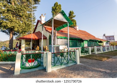 Uttarakhand, India, October 20,2018: Famous Gandhi ashram at Munsiyari Uttarakhand is a popular tourist destination. A place where Mahatama Gandhi once stayed is now a prayer and meditation hall.