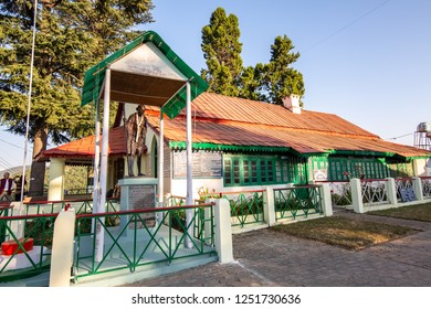 Uttarakhand, India, October 20,2018: Gandhi ashram at Munsiyari Uttarakhand is a popular tourist destination. A place where Mahatama Gandhi once stayed is now a prayer and meditation hall.