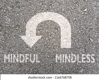 U-turn sign from Mindless To Mindful