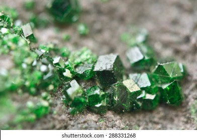 Uvarovite is a chromium-bearing garnet group species with the formula: Ca3Cr2(SiO4)3. Macro. Background for successful Your projects