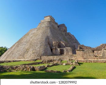 Uxmal ruins of acient Mayan city. UNESCO site. Yucatan Mexico