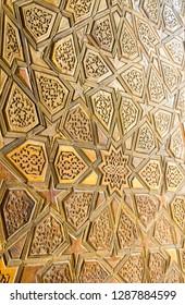 Uzbekistan architecture ornament wood door