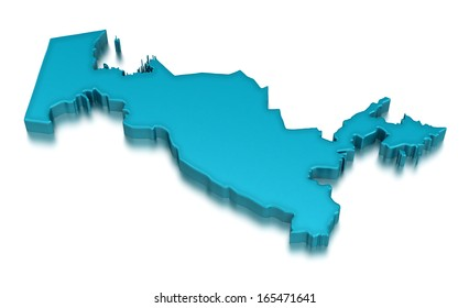 Uzbekistan (clipping path included)