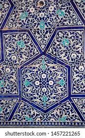 Uzbekistan, Typical blue Mosaic tiles