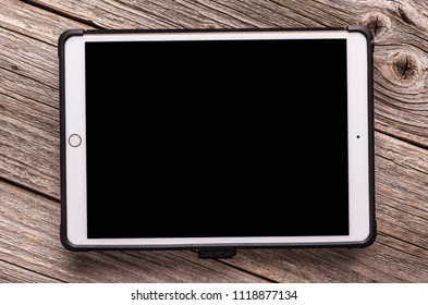 Uzhgorod, Ukraine - June 23, 2018: Ipad pro 10.5 inches from Apple inc. on a wooden table