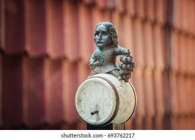 Uzhhorod, Ukraine - July 2, 2017: Emperor Peter the Great mini sculpture