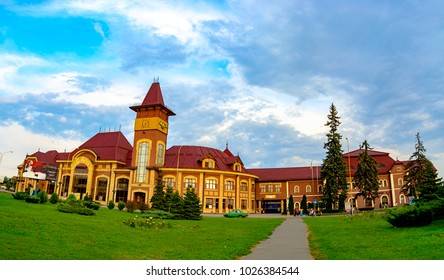 Uzhhorod, Ukraine - September 18, 2016:Railway station in Uzhhorod