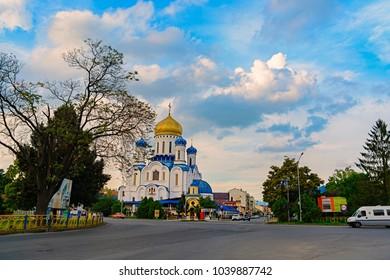 Uzhhorod, Ukraine - September 18, 2016:The Cathedral of Christ the Savior in Uzhhorod