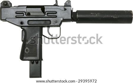 uzi mini machine gun isolated on stock photo edit now 29395972