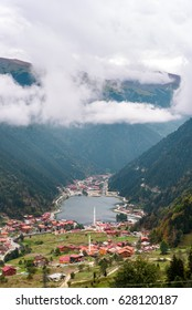 Uzungol lake view – TURKEY - TRABZON - Long lake - view of the mountains and lake in Trabzon