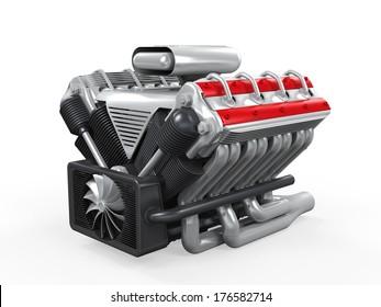 V8 Car Engine