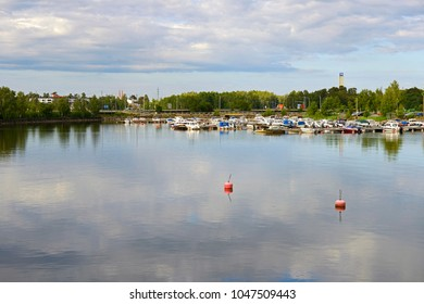 VAASA, FINLAND - JULY 5, 2012: Harbor with yachts in Baltic Sea