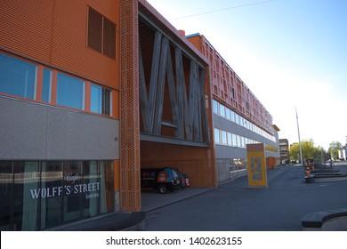 Vaasa / Finland - May 18 2019: Main entrance to Vaasa University of Applied science