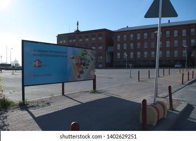 Vaasa / Finland - May 18 2019: Business center at Palosaari Vaasa