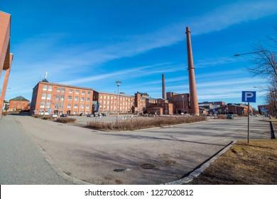 Vaasa University in old factory building. Finland