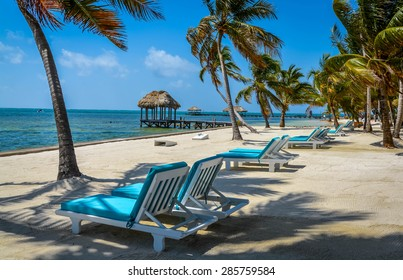 Vacancies in Paradise.  Empty beaches in Belize are welcome sight.  San Pedro, Belize
