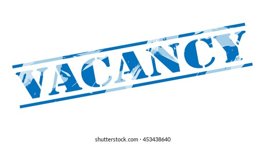 vacancy blue stamp on white background