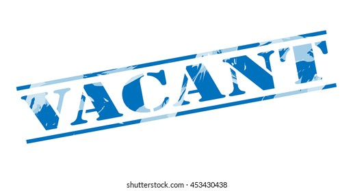 vacant blue stamp on white background