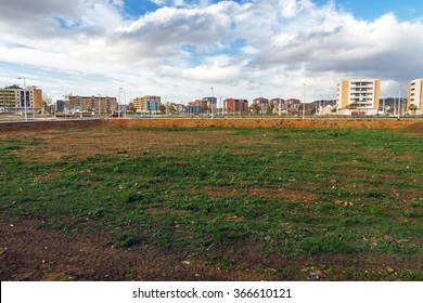 Vacant lots for a Housing Estate under Construction - Cityscape estate or housing development, with empty lots to build