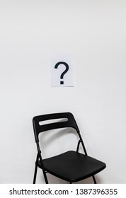 Vacant position at office against white background.